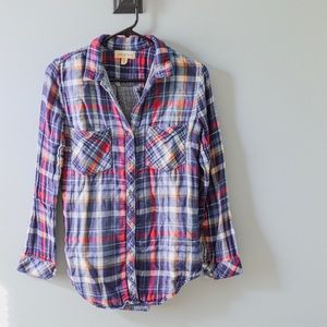 Anthropologie Cloth & Stone Flannel Plaid